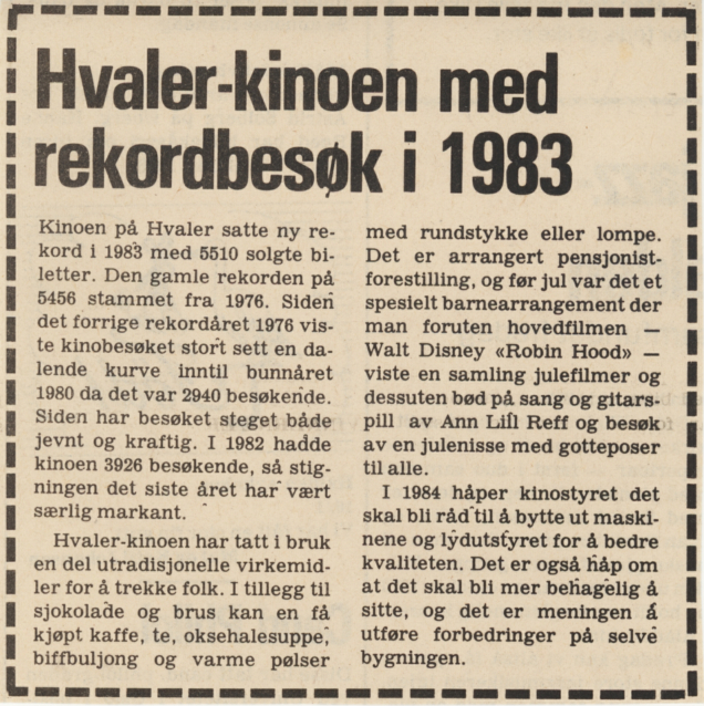 1984 - Fr.stad Blad - Rekordbesøk i 1983 RE-SIZED to 40%